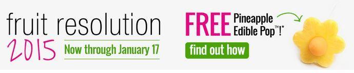 FREE Pineapple Edible Pop from Edible Arrangements!