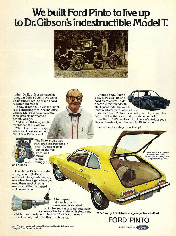 https://flic.kr/p/Bbo6VT | Vintage Automobile Advertising - 1973 Ford Pinto, Car & Driver Magazine, October 1972