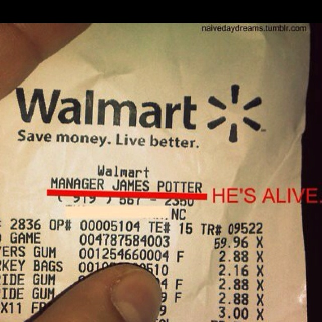 OMG!......wait why would he be working at walmart?!?!?!