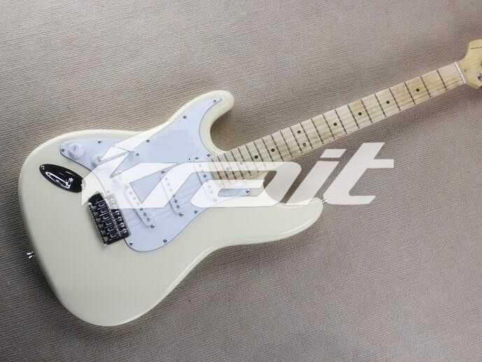 147.25$  Watch now - http://ali72e.worldwells.pw/go.php?t=32707909627 - Krait Left Hand Cream Color Finished Classic ST Electric Guitars for Sale Full Size Guitar with Good Sound