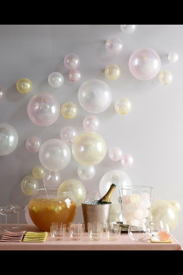Bubbly bar! Party ideas