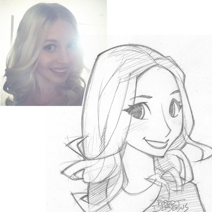 Blondie2992 Sketch by Banzchan American artist Rober DeJesus turns stranger's photos into anime versions of themselves