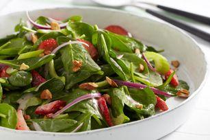 Salade d'épinards aux deux baies