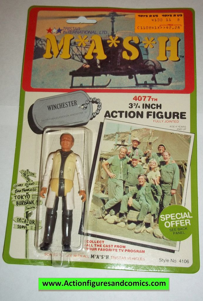 M*A*S*H* mash tv series action figures WINCHESTER 1982 moc mip mib