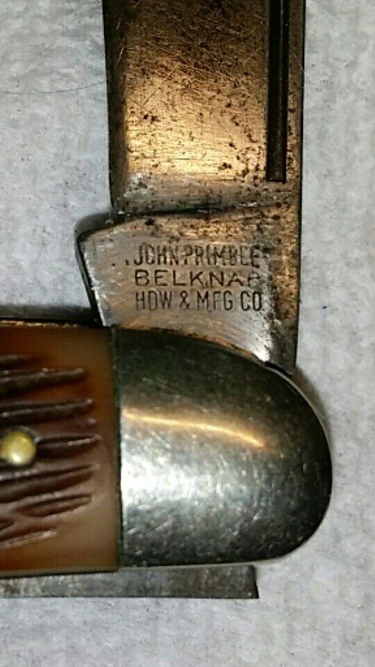 John Primble Belknap HDW & MFG.CO. tang stamp....1940 to ...
