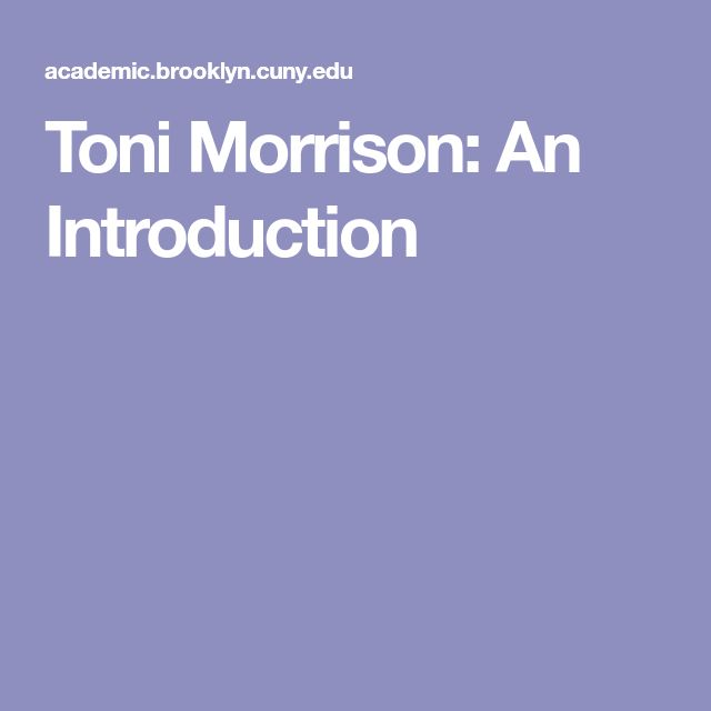 10 best the bluest eye images on pinterest blue eyes high school toni morrison an introduction fandeluxe Images