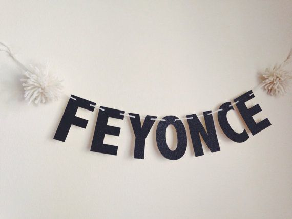 Feyonce Banner Fiance Banner Bachelorette Party decor by XoAS