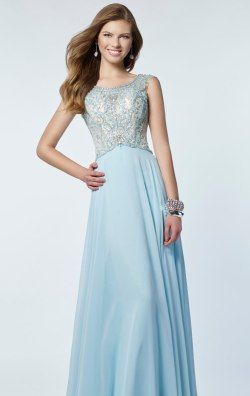 Beaded Open Back Gown by Alyce Prom 6679
