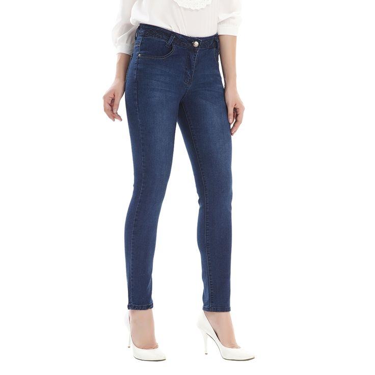 27.85$  Buy now - https://alitems.com/g/1e8d114494b01f4c715516525dc3e8/?i=5&ulp=https%3A%2F%2Fwww.aliexpress.com%2Fitem%2FWomen-slim-jeans-lady-mid-waist-blue-elastic-pencil-pants-tight-jeans-women-s-denim-pants%2F32707301326.html - Women slim jeans lady mid waist blue elastic pencil pants tight jeans women's denim pants 2016 autumn jeans skinny trousers 9522