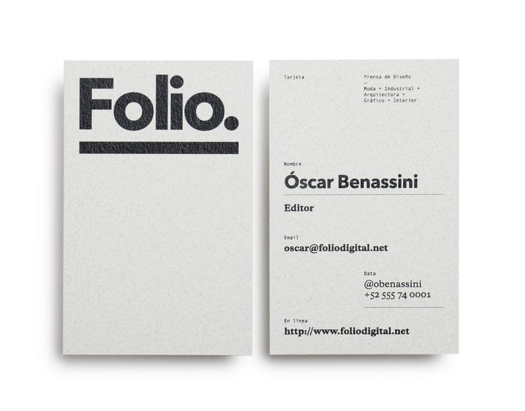 Foliodigital business card.