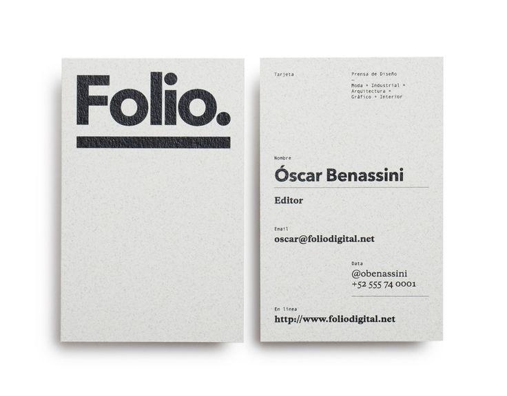 Foliodigital business card.