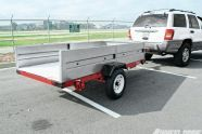 We started this project with a Harbor Freight 4x8-foot utility trailer kit. Harbor Freight also offers a 4x6-foot model for those looking for something smaller.