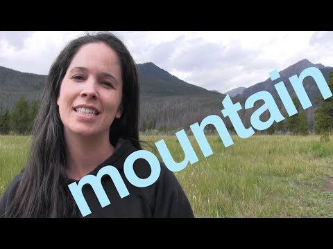 How to Say MOUNTAIN and SENTENCE - American English - YouTube