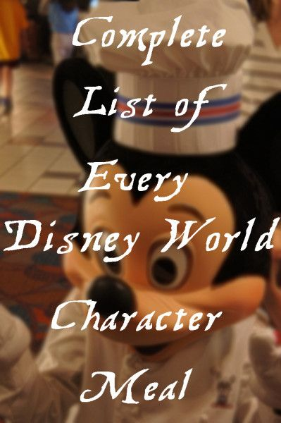 A complete list of all the character meals offered at Walt Disney World, including links to reviews and menus!