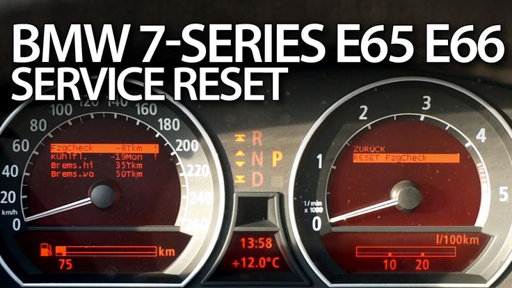 How to #reset #service reminder in #BMW #E65 7-Series #E66 E67 E68 #inspection