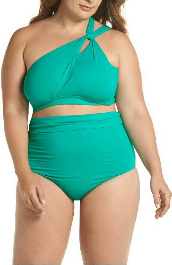 b782a7696e Becca Etc. Color Splash Bikini Top + High Waist Bikini Bottom in Emerald