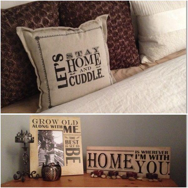 My cute bedroom decor. #lovers