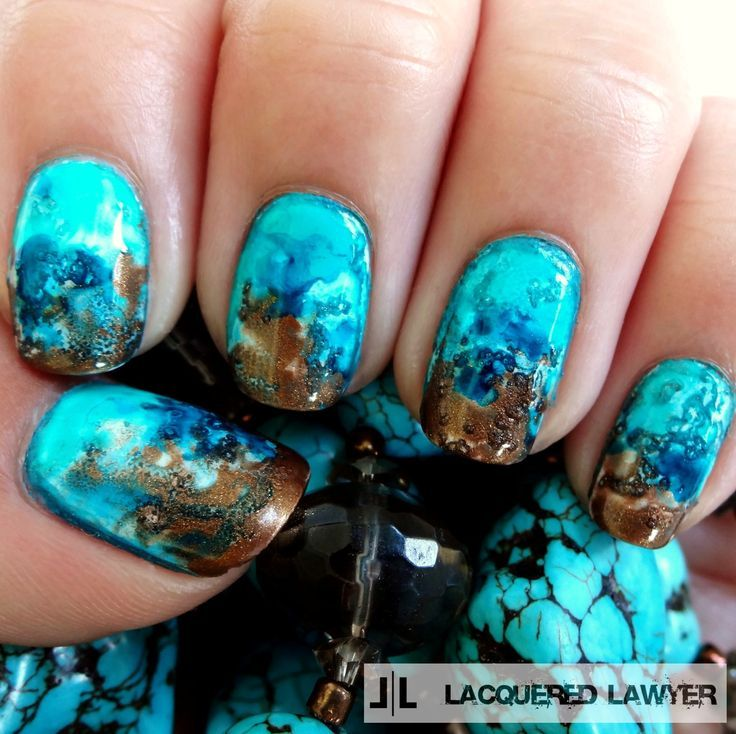 28 Amazing turquoise stone nails for 2015