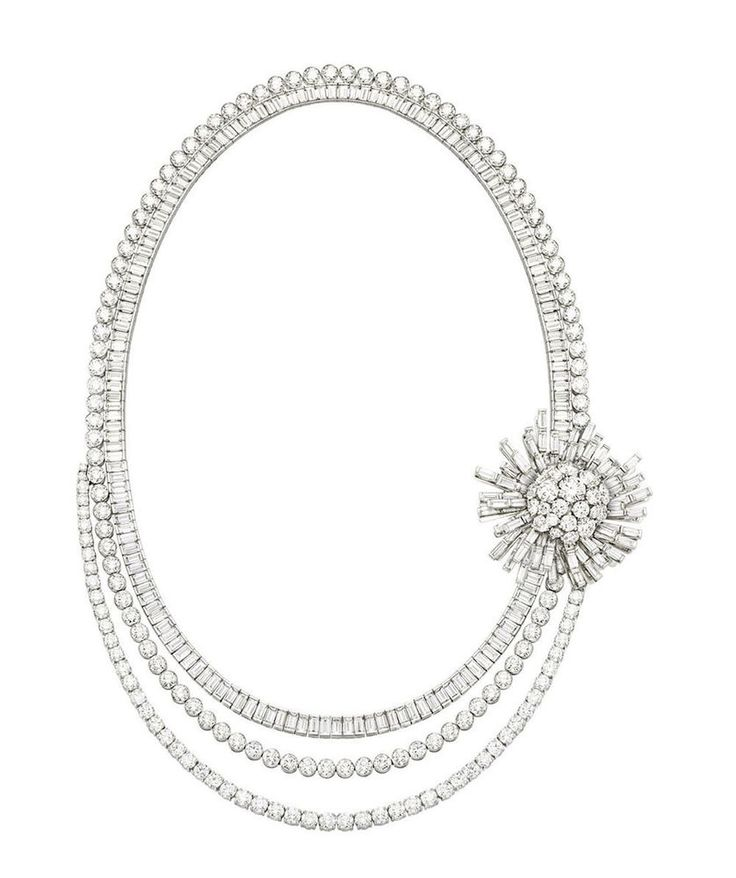 Women 925 Sterling Silver Round Baguette Vintage Cocktail Party Necklace Cz Gift #NIKI #Collar