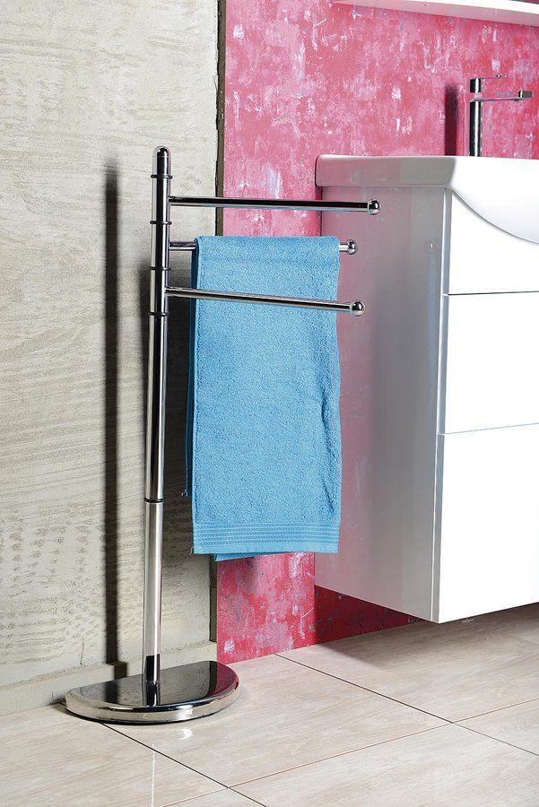 HIBISCUS stojan s držákem ručníků, chrom, SAPHO E-shop