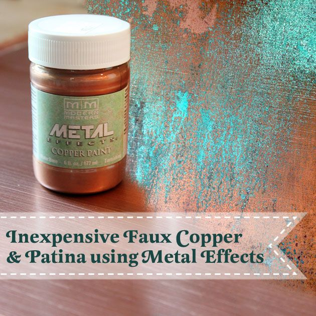 Do you love the look of copper, but the price makes your head whip the other way? Have no fear my dear! You can create inexpensive faux copper and patina for a fraction of the cost. I was introduced t