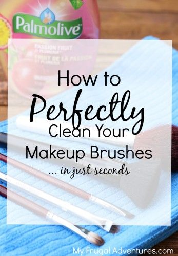 How to quickly and easily clean your makeup brushes.  So much gross stuff gets into your brushes- this is a great habit to get into for bright, clear skin.
