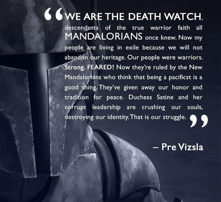 Honoring Someone Who Has Died Quotes: True, But Should Have Been Spoken By A Real Mandalorian