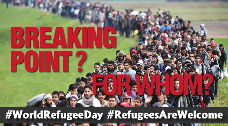 """World Refugee Day, Record Numbers Refugees from """"forced displacement"""" recorded worldwide in 2015 numbered over 65 million according to UNHCR, the UN Refugee Agency."""