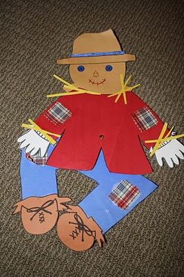 Scarecrow Pattern. Can use a photo of students face for the scarecrow.