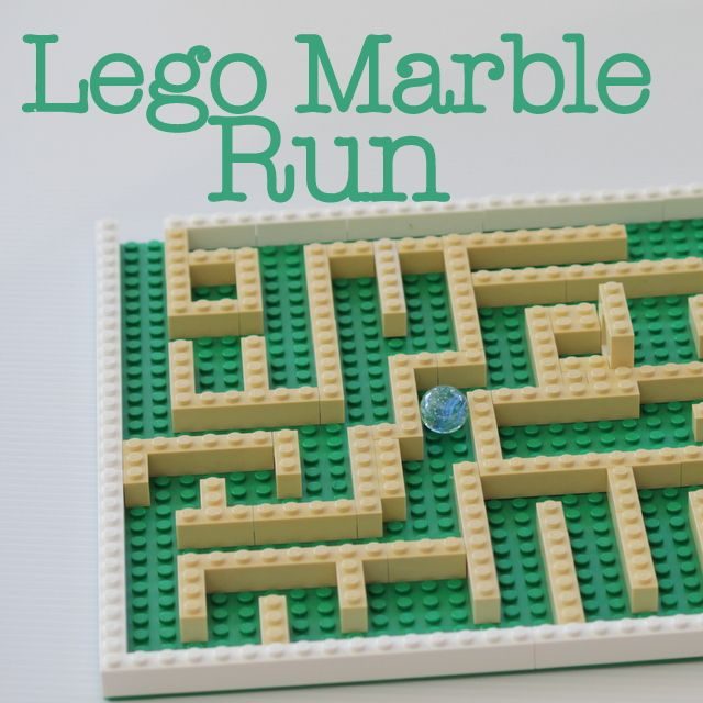 Build a Lego marble run with your crafty kids and see who can get the marble through the maze first!
