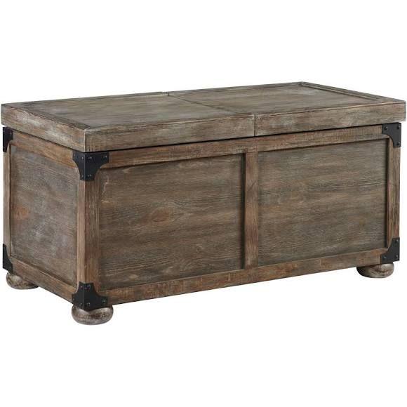 Ashley T500 720 Vennilux Storage Coffee Table Brushed Driftwood