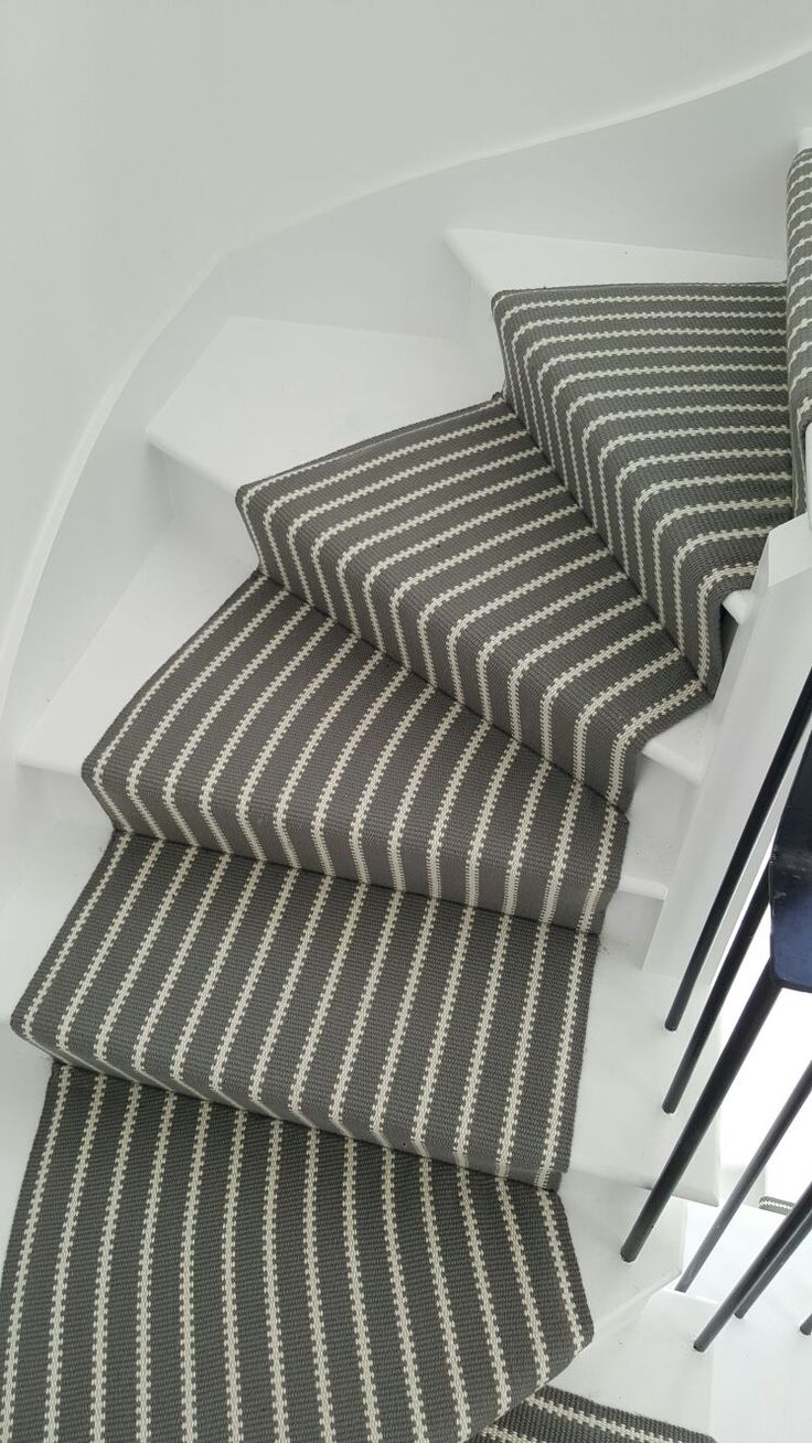 Hartley & Tissier ZIP14 Nickel beautifully fitted on these winding stairs. www.hartleytissier.com
