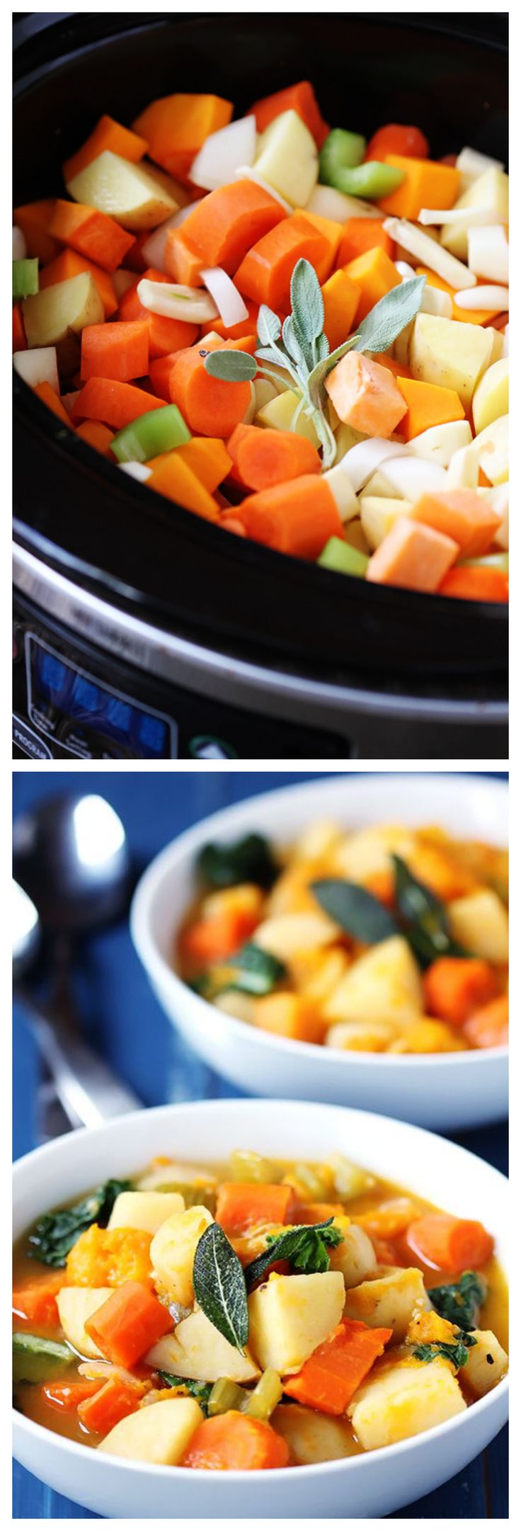 Slow Cooker Root Vegetable Stew -- simple, hearty, delicious   gimmesomeoven.com #slowcooker #crockpot