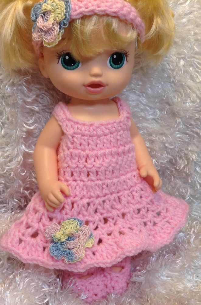 Handmade Clothes For Baby Alive 13 Inch Dolls.Fits Ready for school Baby Doll.