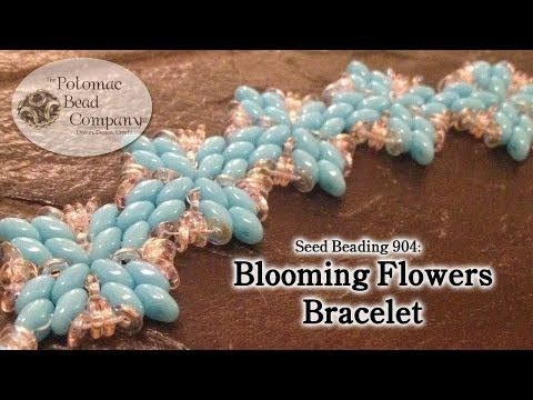 """Make a """"Blooming Flowers"""" Pattern - YouTube free tutorial from The Potomac Bead Company. Thousands of free tutorials available on www.youtube.com/.... Supplies from www.TheBeadCo.com www.potomacbeads.com"""