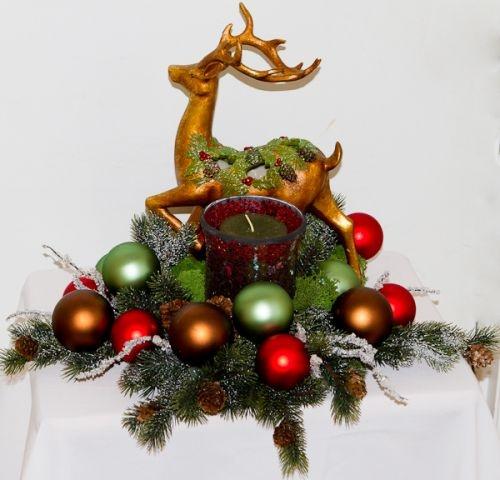 Mantel Christmas ArrangementsMantels Christmas, Christmas Arrangements