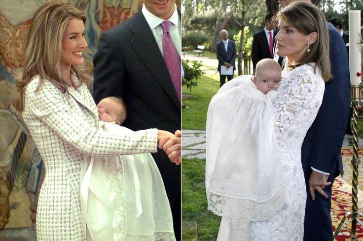 Doña Letizia, en los bautizos de sus hijas Leonor y Sofía (Gtres)