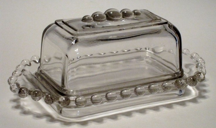 Manufactured by Imperial Glass between 1936 and 1984, the Candlewick pattern is one of the most collected glass patterns made by Imperial Candlewick California Butter Dish!  Love it!
