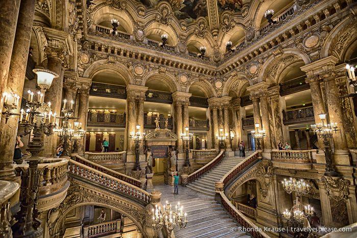 The Grand Staircase at Palais Garnier (Garnier Opera), Paris