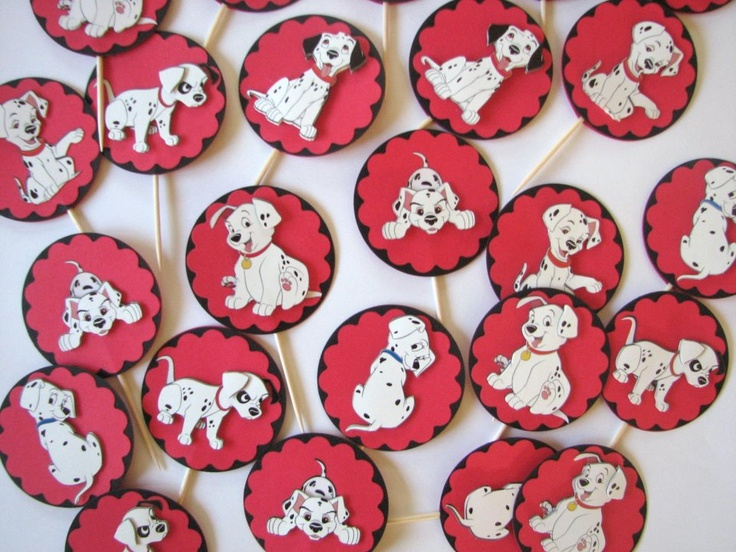 "101 dalmation Cupcake toppers. WWW.celebratewithpam.WordPress.com. ""Pep's Paper Studio"" on Instagram"