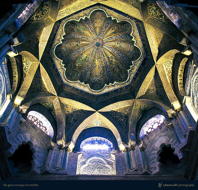 dome of the great mosque in Cordoba. stunning. I learned about this place in my art history class and i MUST see it in person.