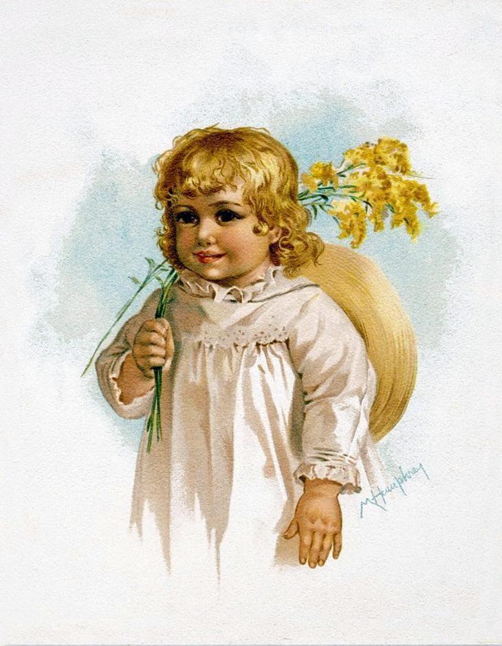 Детки на открытках, картинки женщине летием