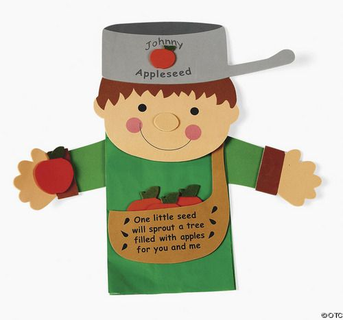 johnny appleseed crafts   Johnny Appleseed Paper Bag ...