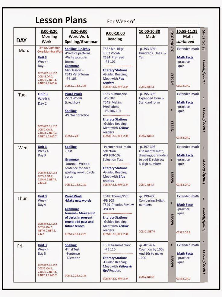 Preschool Weekly Lesson Plan Roho4senses