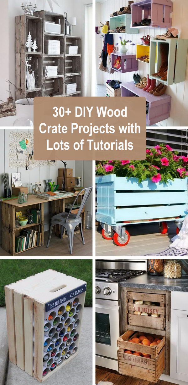 30+ DIY Wood Crate Projects With Lots of Tutorials 2018  – Wood crate table