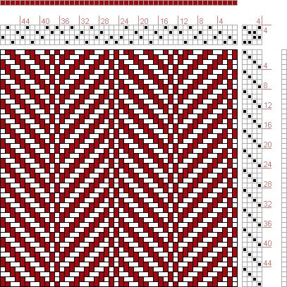 Hand Weaving Draft: 24340, 2500 Armature - Intreccio Per Tessuti Di Lana, Cotone, Rayon, Seta - Eugenio Poma, 4S, 4T - Handweaving.net Hand Weaving and Draft Archive