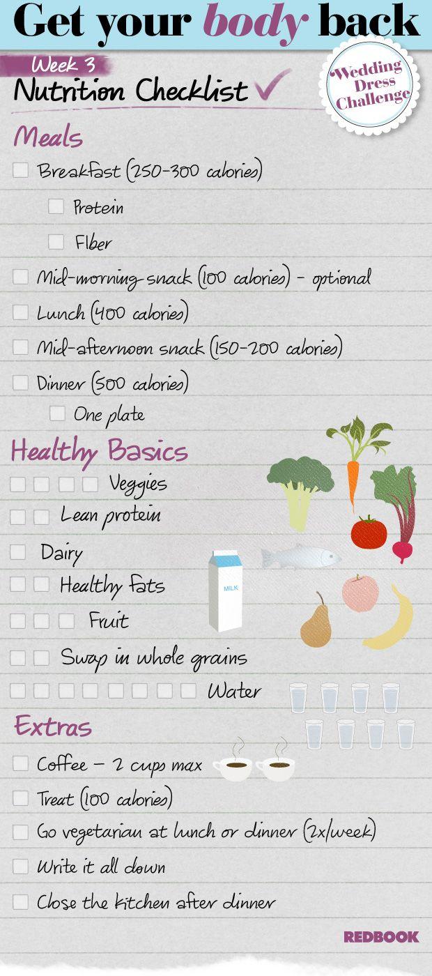 Wedding Dress Challenge Eating Checklist Week 3