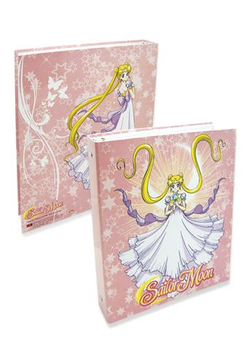 New official Sailor Moon Princess Serenity binder / folder!  Shopping links on where to buy this listed here: http://www.moonkitty.net/reviews-buy-sailor-moon-stationary-books-bags.php