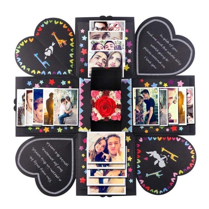Kreative Überraschung Geschenk Box DIY Fotoalbum Handmade Scrapbook Für Liebe