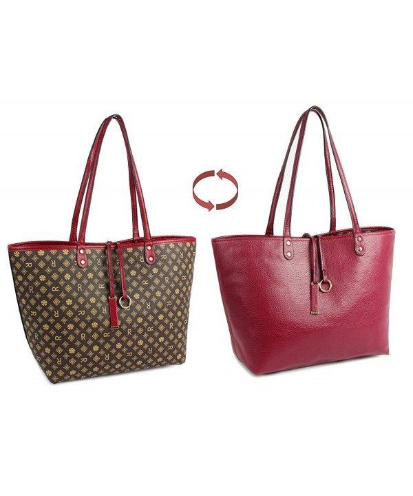 3fed04b4d1f13d Women's Bags, Top-Handle Bags, Shoulder Bag for Women Reversible Tote Bag  Pu Leather Ladies Purse Handbags - Brown - CN1898X6H7Q #Women #Fashion #Bags  ...